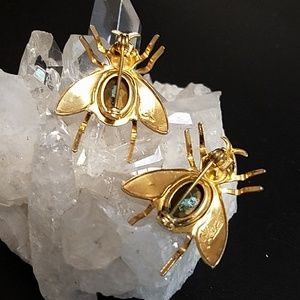 Coro Jewelry - Pair Vintage Coro Bug/Fly Brooches